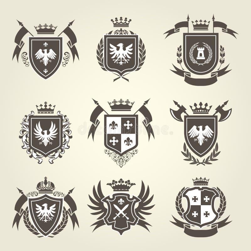 Free Medieval Royal Coat Of Arms And Knight Emblems - Heraldics Stock Photos - 85652093
