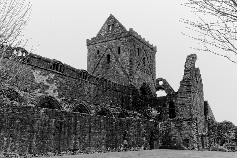 Medieval Ruined Abbey royalty free stock photography