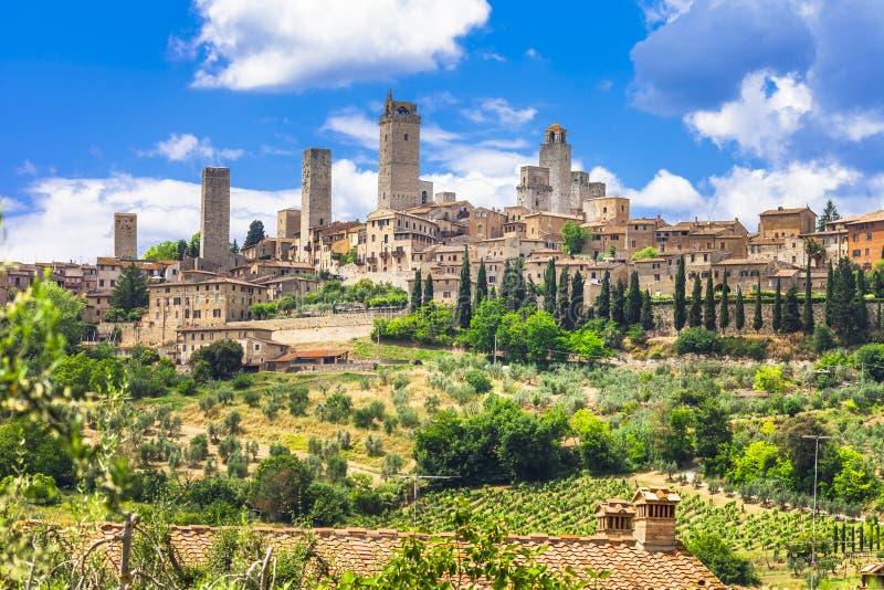 medieval San Gimignano - Tuscany royalty free stock photo