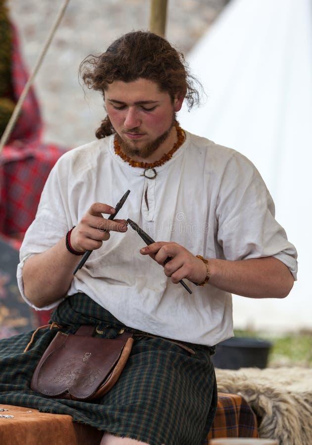 Medieval Scottish Jeweller Editorial Stock Photo