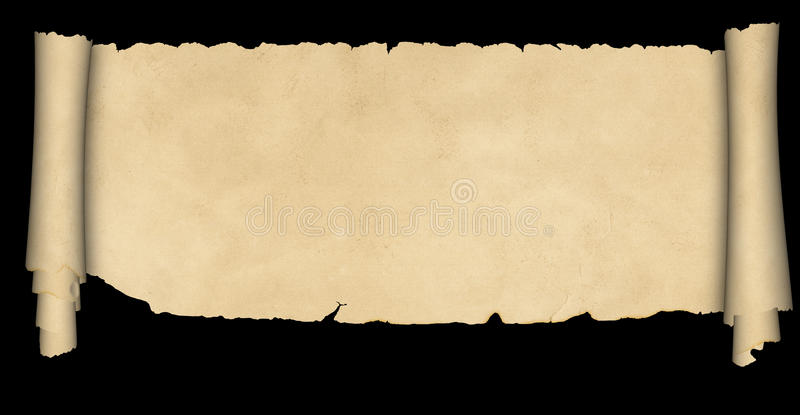 Medieval scroll of parchment. royalty free stock images