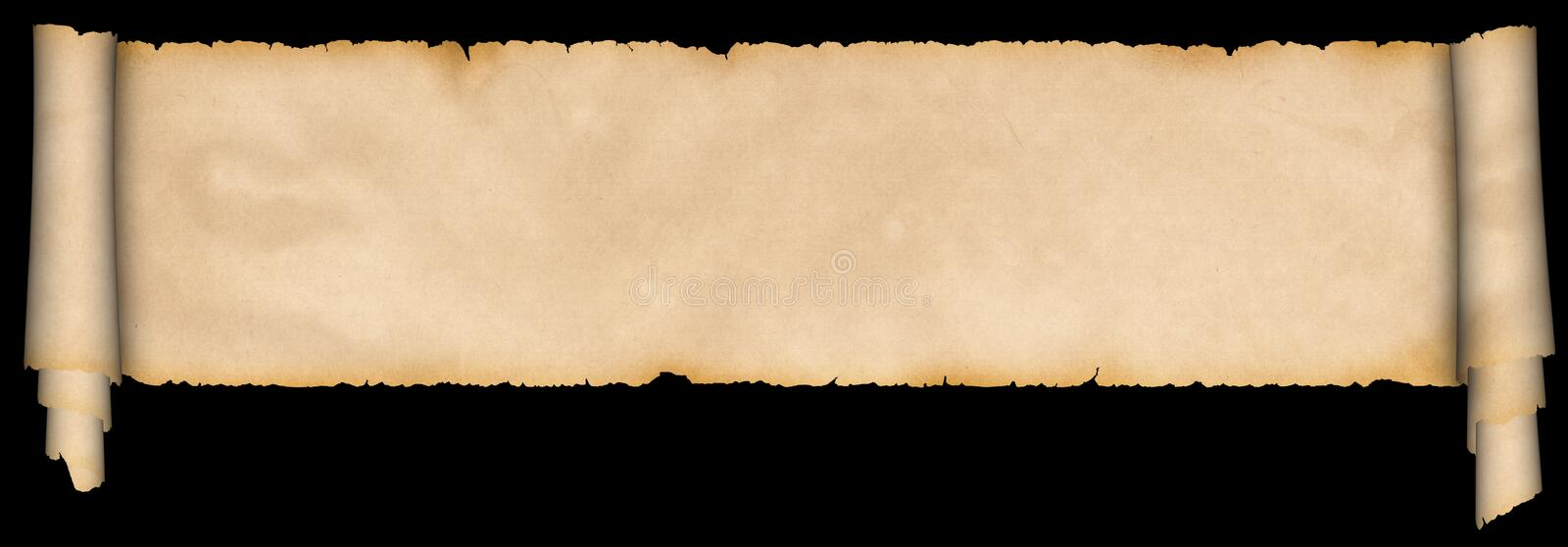 Medieval scroll of parchment. royalty free stock photos