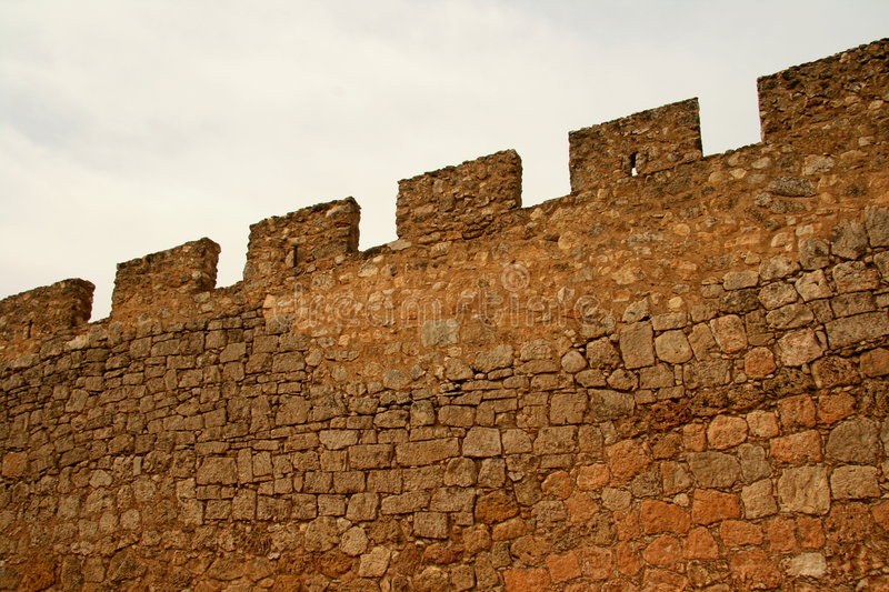 Medieval security wall stock images