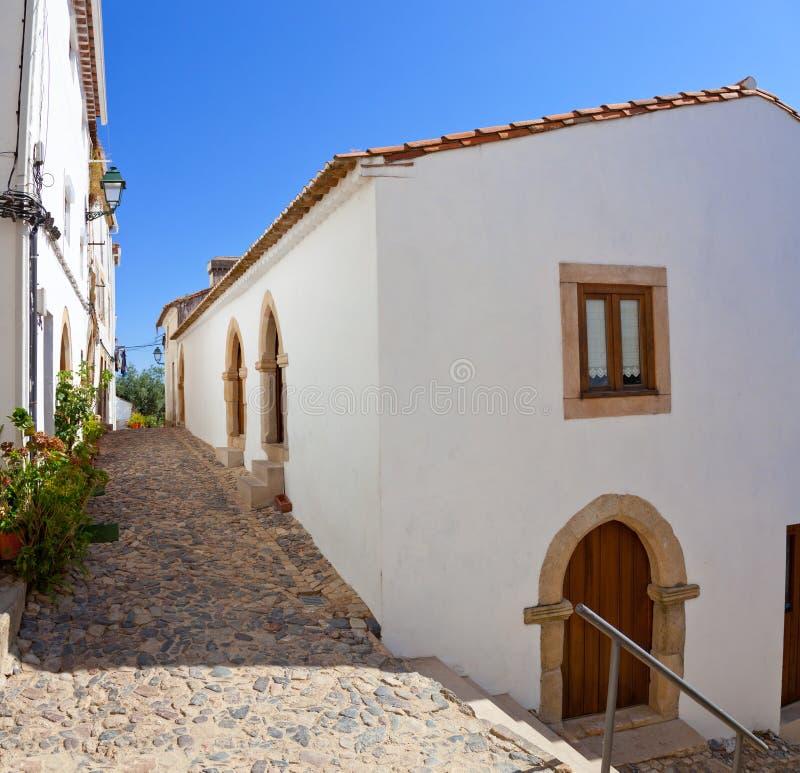 Medieval Sephardic or Sephardi Synagogue of the 13th / 14th century. In Judiaria aka Jewish Quarter or Ghetto of Castelo de Vide, Portalegre, Alto Alentejo stock images
