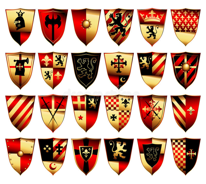 Download Medieval set stock vector. Illustration of crusade, accent - 14850509