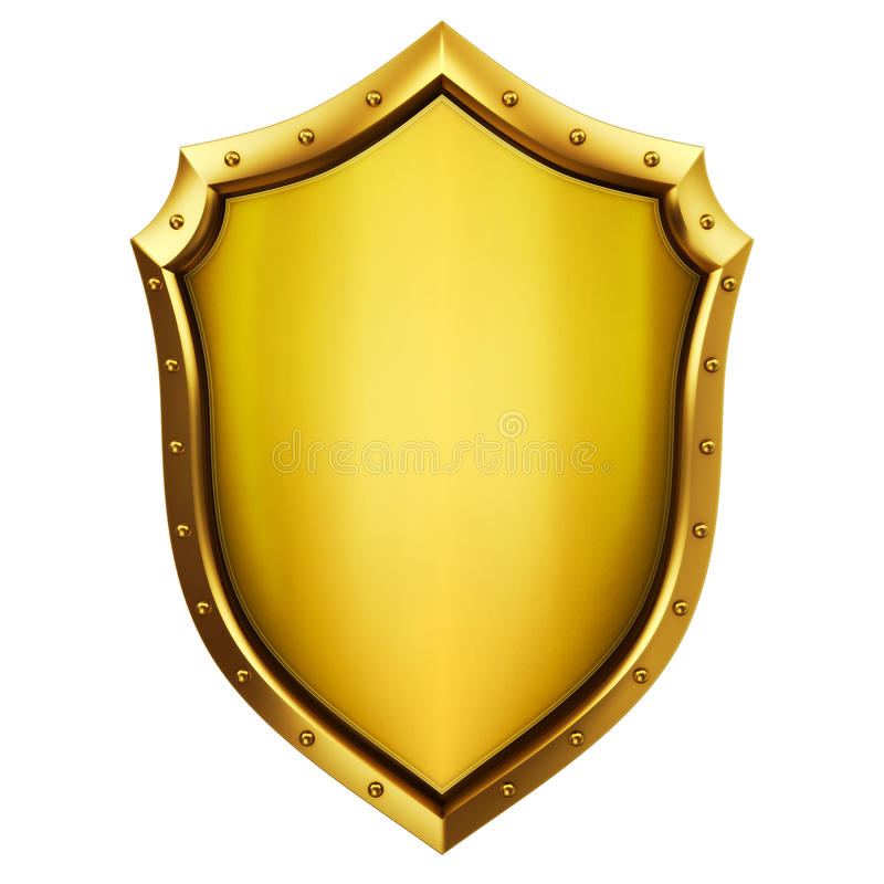 Medieval shield. Concept of Medieval shield 3d rendering stock photography