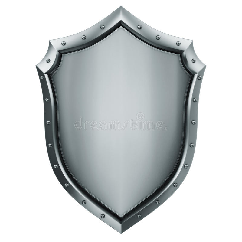 Medieval shield. Concept of Medieval shield 3d rendering stock image