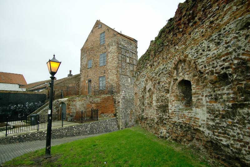 Great Yarmouth medieval tower. The south east tower was part of the walled fortifications built around Yarmouth in Norfolk during the reign of Henry the third royalty free stock photo