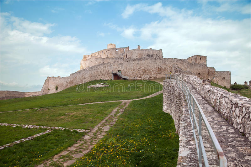 Medieval Spis Castle in Slovak Republic royalty free stock photos
