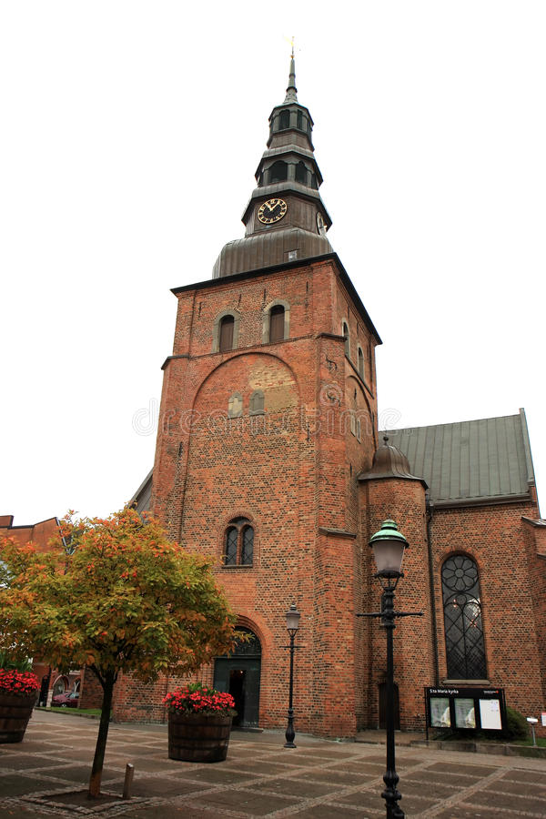 Medieval St. Mary's Church, Ystad, Sweden royalty free stock image