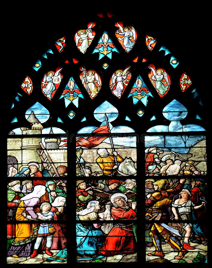 Download Medieval Stained Glass Window Stock Photo