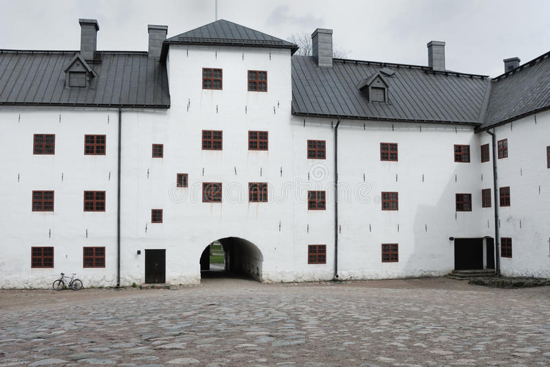 Medieval stone castle in Turku, Inner Yard. 12th century medieval stone castle in Turku (Finland). May 2009 royalty free stock photo