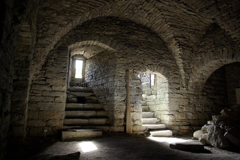 Download Medieval stone cellar stock image. Image of exclusive - 3173233