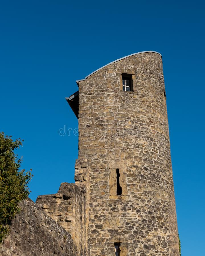 Medieval Stone Tower on City Wall stock photos