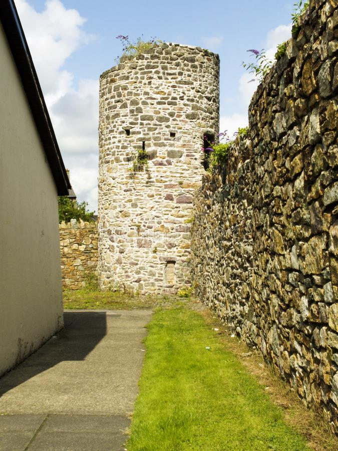 Medieval stone tower in Wexford stock images
