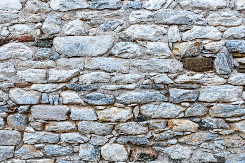 Medieval stone wall background stock photo