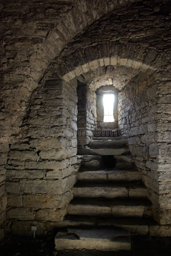 Download Medieval stone window stock image. Image of dark, middle - 4210243