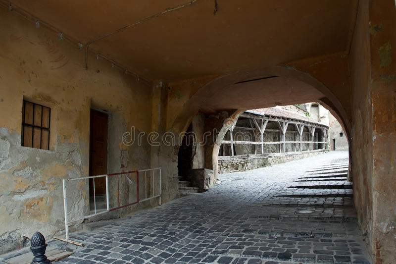 Download Medieval street stock photo. Image of gang, walls, ancient - 24932618