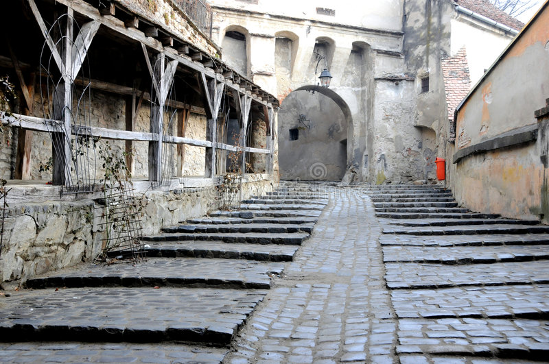 Medieval street stock photography