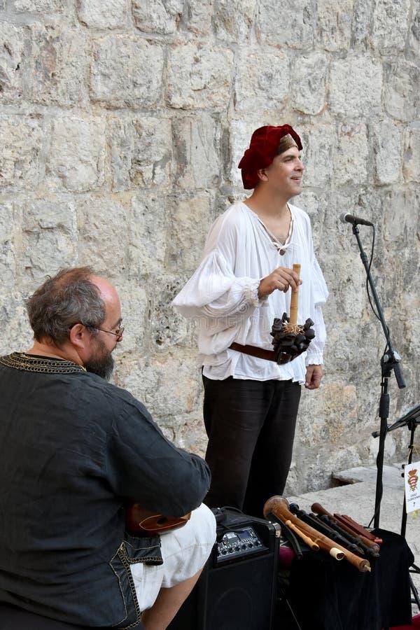 Medieval street music royalty free stock photos