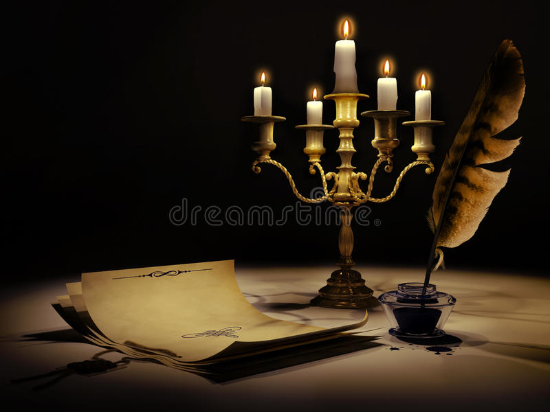 Download Medieval style 2 stock illustration. Image of paper, feather - 26841527