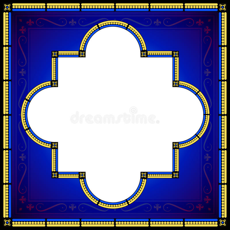 Medieval style design bordered frame stock illustration