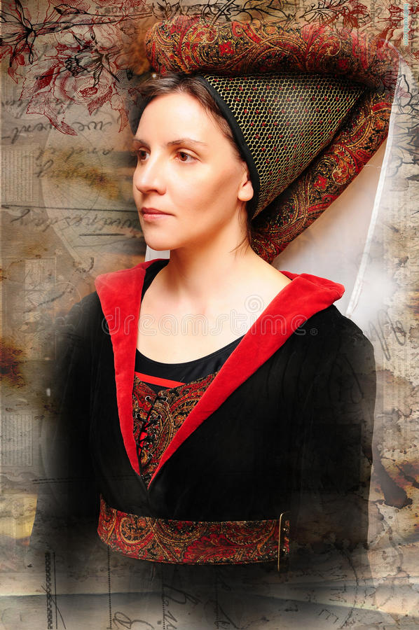Download Medieval style portrait stock photo. Image of clothing - 26954928