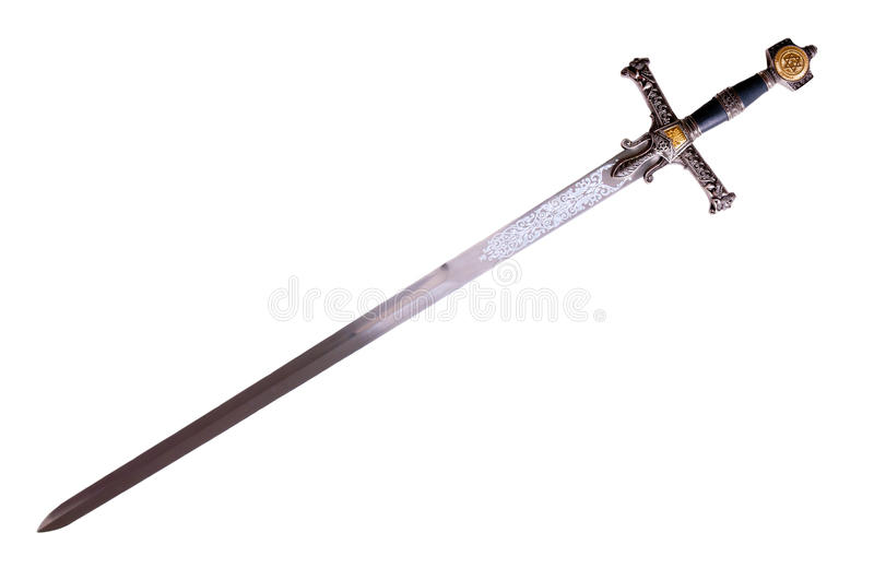Medieval sword stock photography