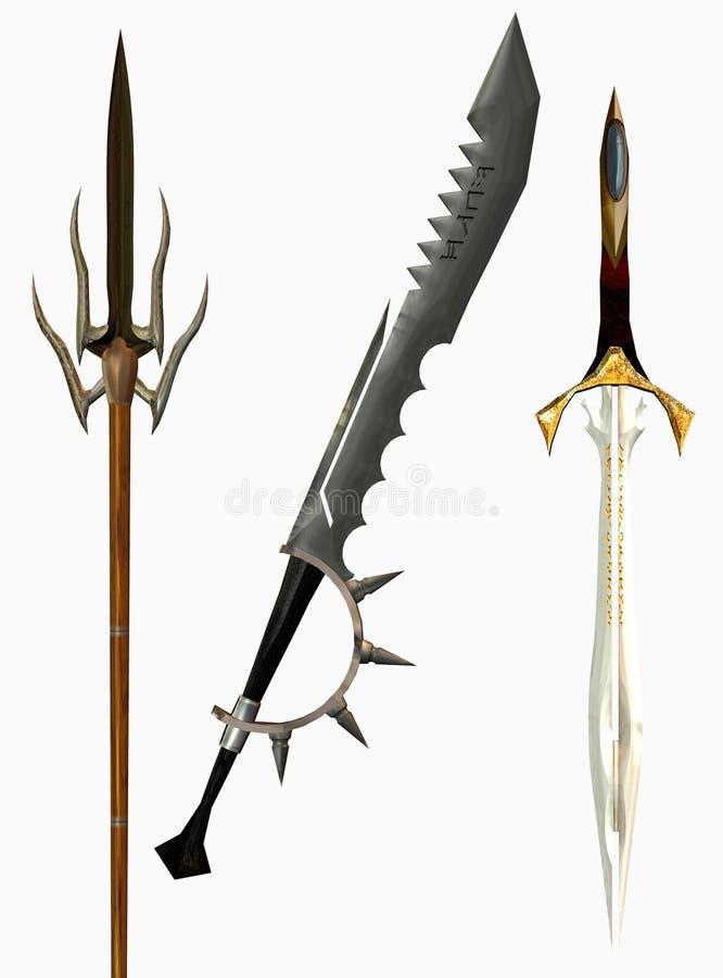 Download Medieval swords stock illustration. Image of different - 14926420