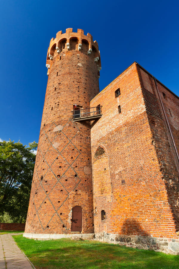 Medieval Teutonic castle in Poland stock photo