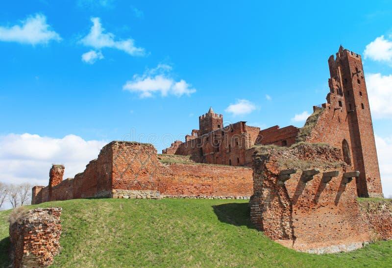 Medieval Teutonic Castle In Radzyn Chelminski Stock Photos