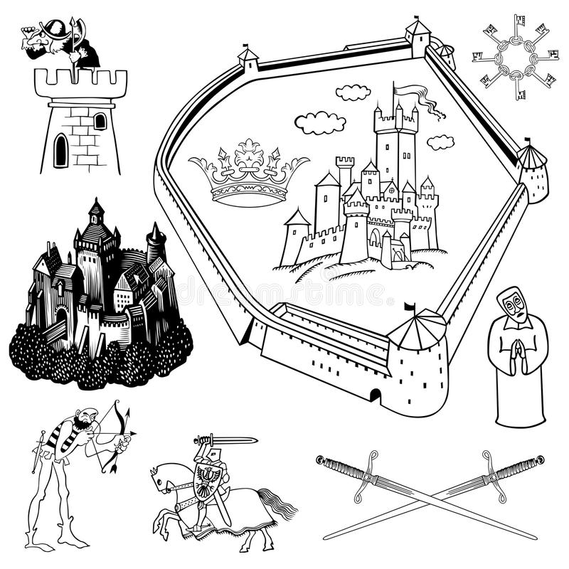 Medieval theme. This image is a vector illustration and can be scaled to any size without loss of resolution, can be variated and used for different compositions vector illustration