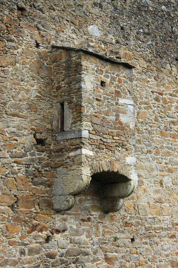Medieval toilet. In an ancient castle royalty free stock photos