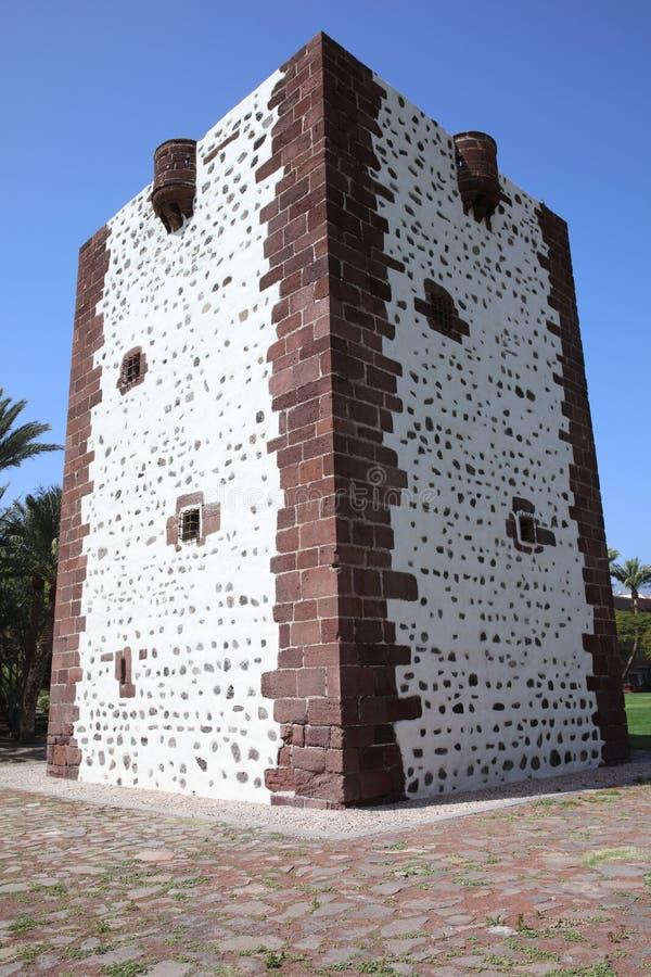 Medieval tower called Torre del Conde in San Sebastián de La Gomera. Canary Islands. Spain royalty free stock photo