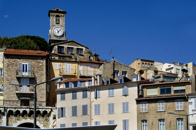 Medieval tower castle in Cannes. France royalty free stock photos