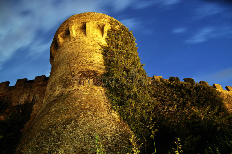 Medieval Tower (Certaldo) stock photo
