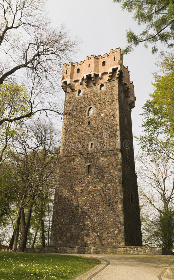 Medieval tower defense. In the ruins of the castle in Cieszyn royalty free stock photo