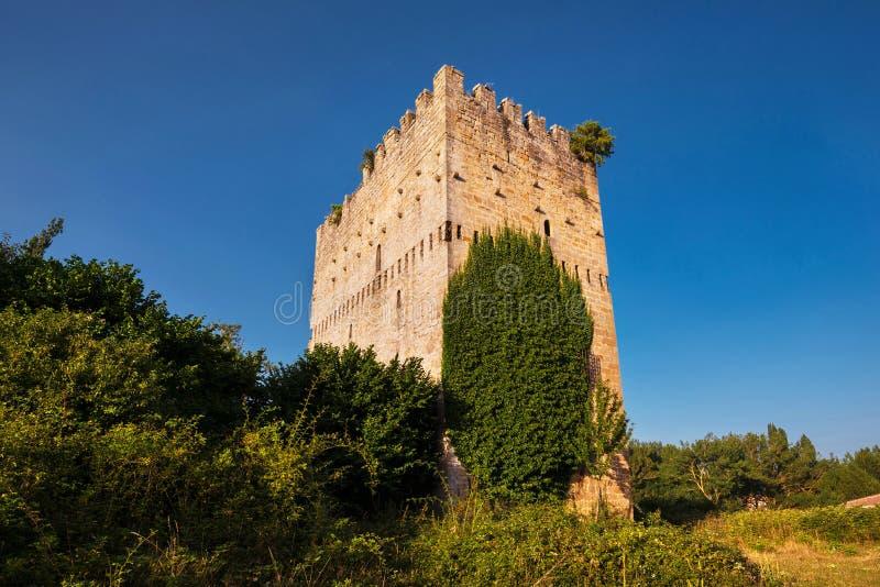 Medieval tower in Espinosa de los monteros, Burgos, Spain. Medieval tower in Espinosa de los monteros, Burgos, Spain royalty free stock photography