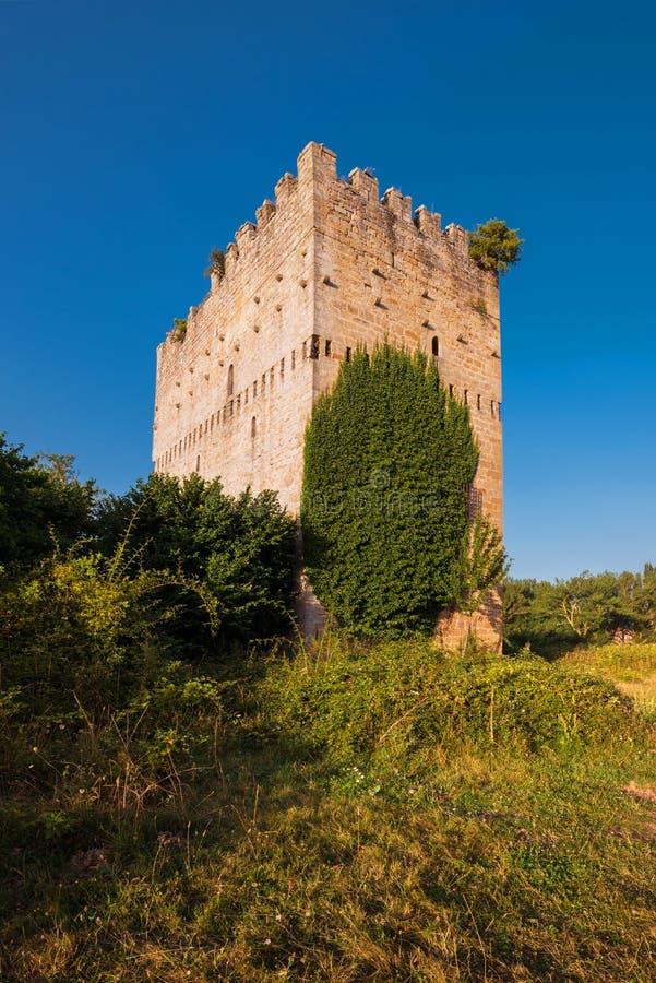 Medieval tower in Espinosa de los monteros, Burgos, Spain. Medieval tower in Espinosa de los monteros, Burgos, Spain stock photo