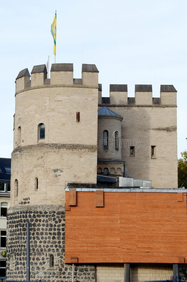 Medieval Tower Hahnentorburg, Part of the old City Wall cologne royalty free stock photos