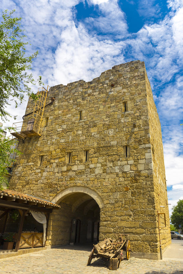 Free Medieval Tower In Old Part Of Evpatoria Stock Images - 90489814