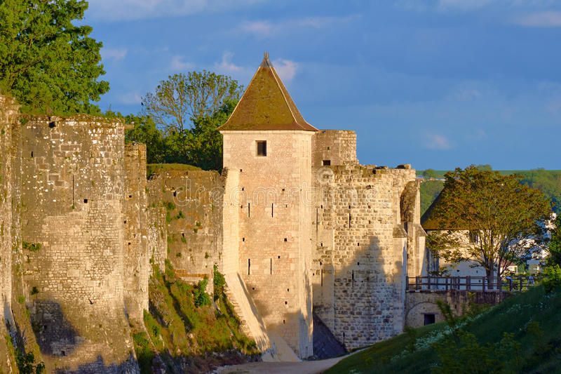The medieval towers and ramparts. In Provins, France royalty free stock photography