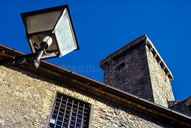 Bolsena, Lazio - Italy. The medieval town with castle on Lake Bolsena, region Latium, central Italy stock photos