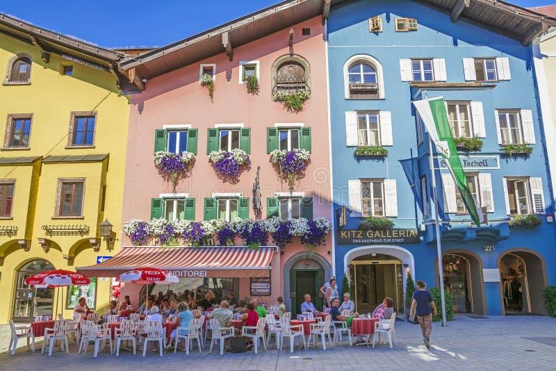 Medieval town of Kitzbuhel, Tirol stock images