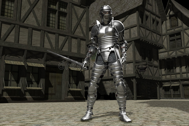 Download Medieval Town Knight 01 stock illustration. Image of combat - 6862610