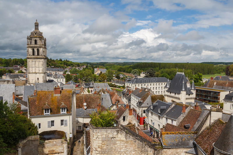 Medieval town of Loches. France royalty free stock images