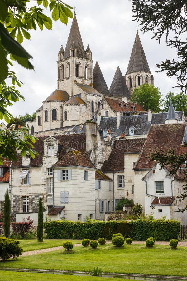 Medieval town of Loches. France royalty free stock image