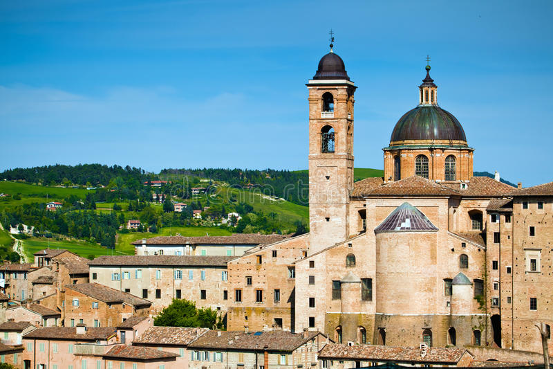 Medieval town Urbino, Italy royalty free stock photo