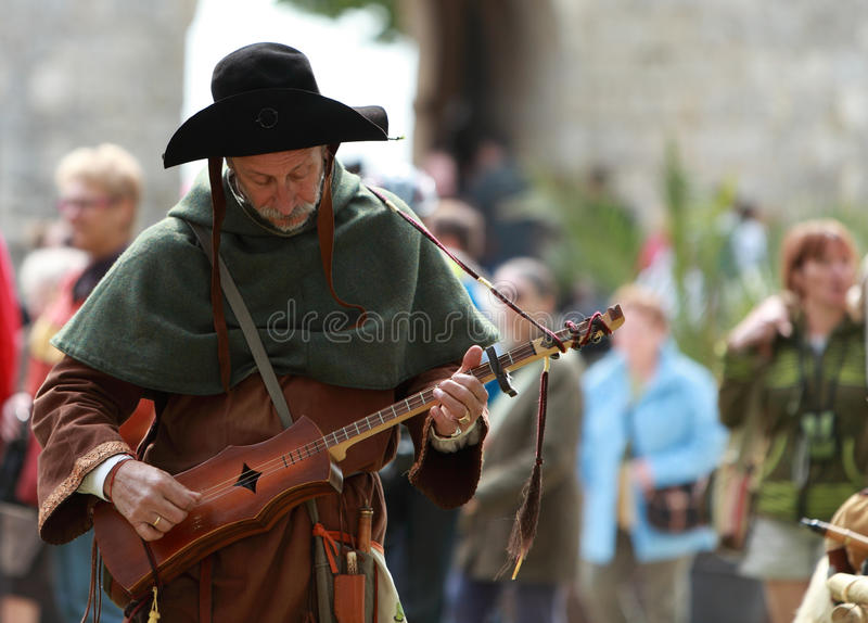 Download Medieval troubadour editorial stock image. Image of traditional - 17632249