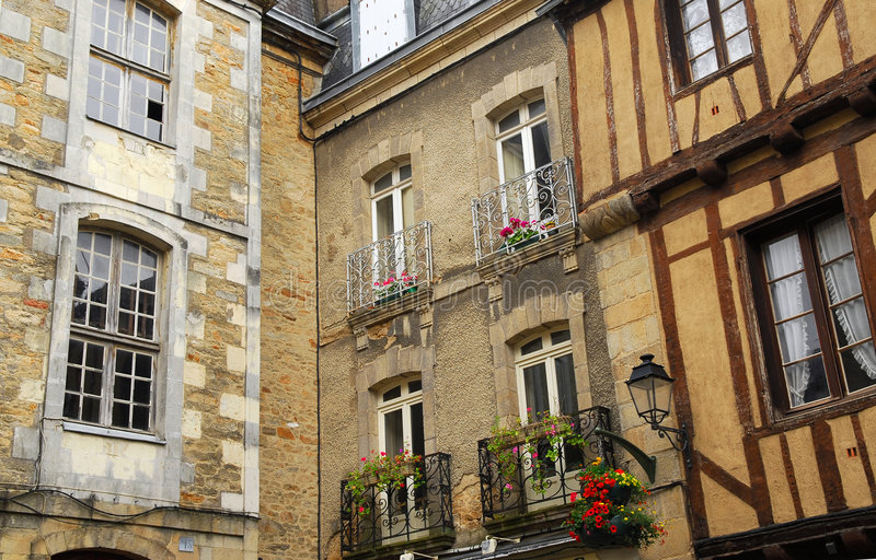 Download Medieval Vannes, France stock image. Image of house, homes - 3983531